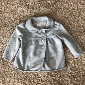 Buttoned Gray Coat